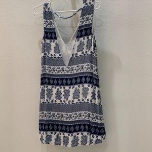 TOBI Blue & White Printed Dress